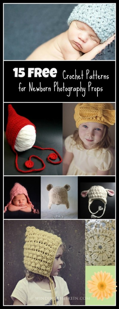 15 Free Crochet Patterns for newborn photography props ...