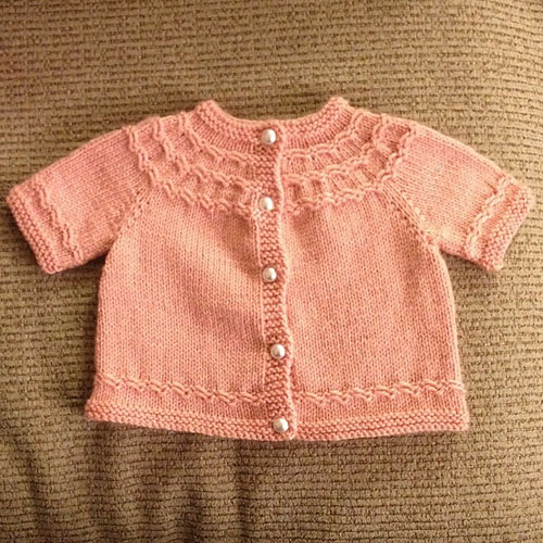 Knitting Pattern For Baby Seamless Yoked Sweater : Knit-along week 3 Seamless Yoked Baby Sweater - Winding the Skein