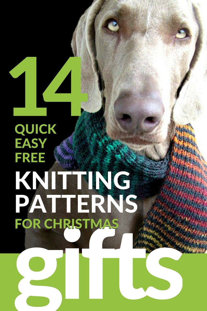 14 Quick Easy Free Last Minute Christmas Gift Knitting Patterns