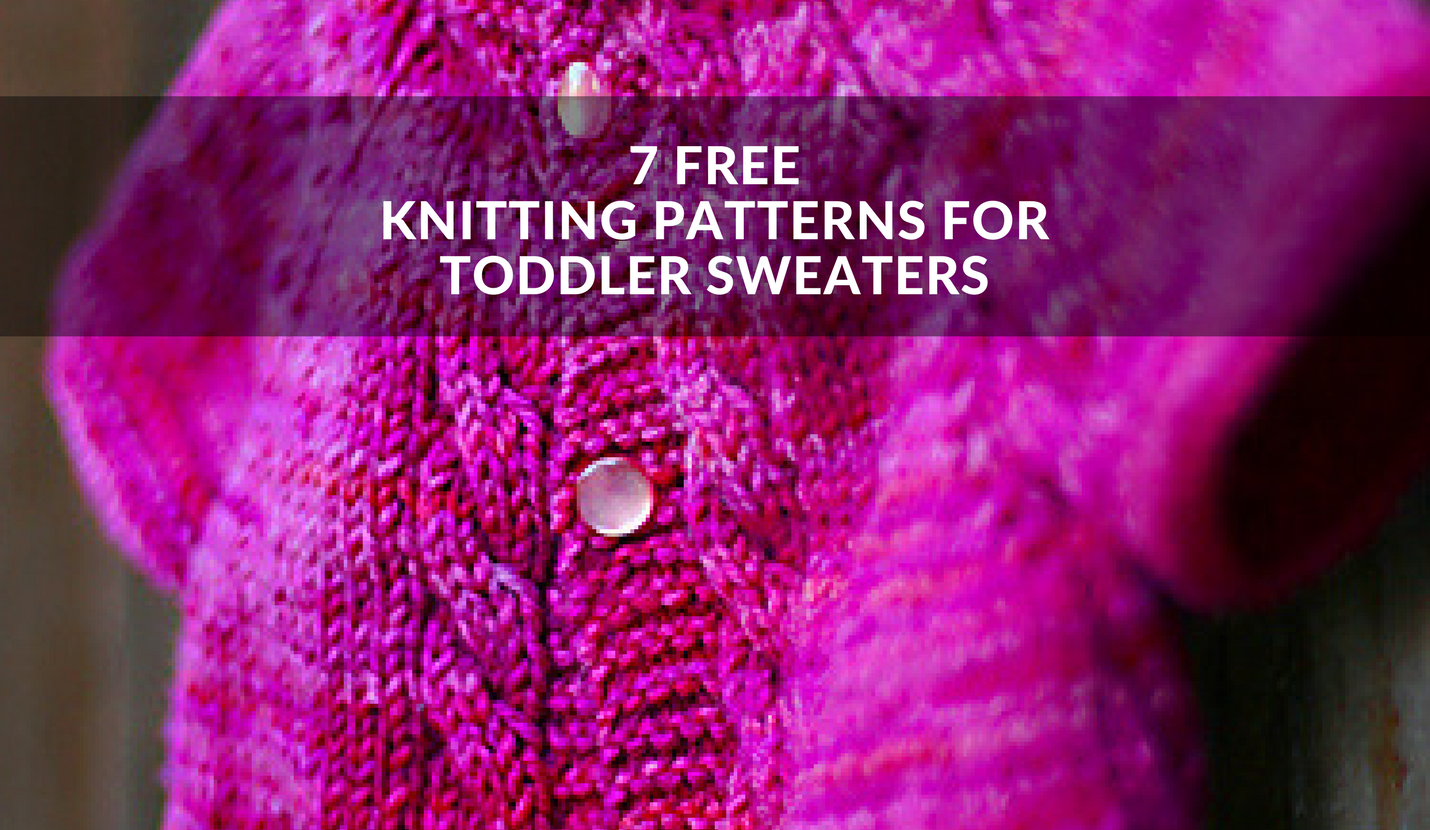 Free Knitting Pattern For Kids : Free Toddler Sweater Knitting Patterns - Winding the Skein